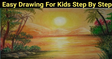 How To Draw Scenery Easily